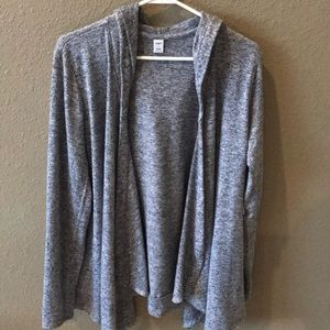 Heathered gray active cardigan old navy